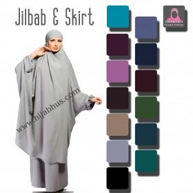 Enkelt jilbab med skjørt