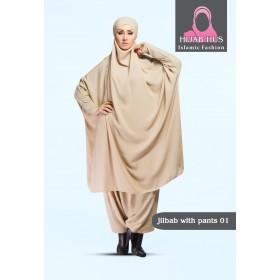 Simpel jilbab med bukser
