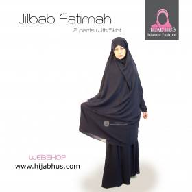 To deler jilbab med skjørt