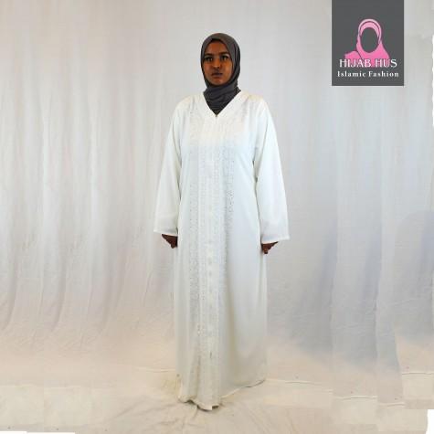 Hvit Abaya