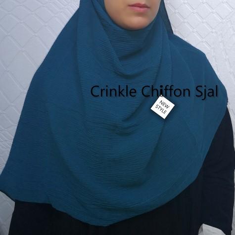 Wrinckle Chiffon Sjal