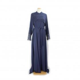 Cloche Maxi kjole - Mørke blå
