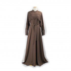 Cloche Maxi kjole - Walnut