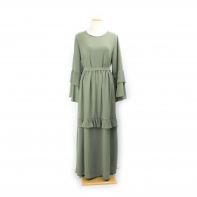 Frilly Maxi kjole - Chive