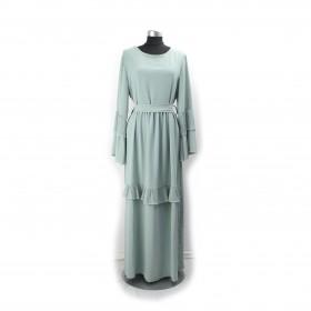 Frilly Maxi kjole - Purist Blå