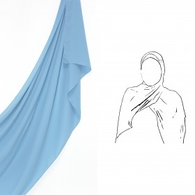 Maxi Chiffon Sjal - Ocean Blue