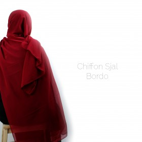 Chiffon Sjal - Bordo