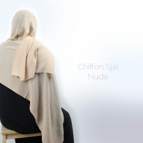 Chiffon Sjal - Nude