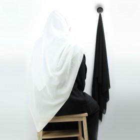 Chiffon Sjal - Off White