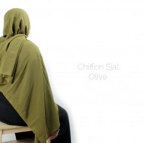 Chiffon Sjal - Olive
