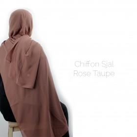 Chiffon Sjal - Rose Taupe