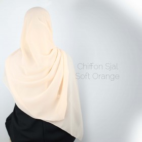 Chiffon Sjal - Soft Orange