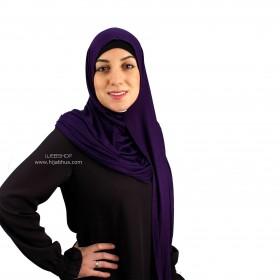 Maxi Jersey Sjal - Purple