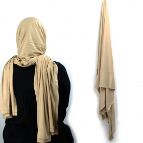 Maxi Jersey Sjal - Light Beige