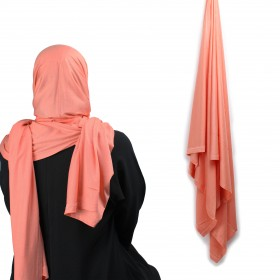 Maxi Jersey Sjal - Peach Pink