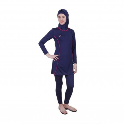 Svart Burkini Sporty Fit