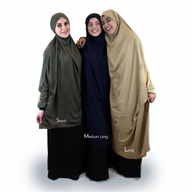 Medium Khimar Med Ermer