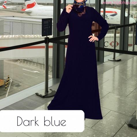 Mørkeblå Simple Abaya