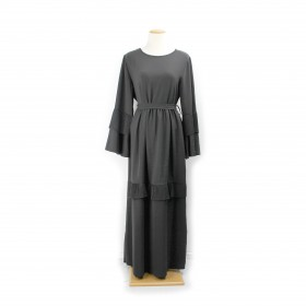 Frilly Maxi kjole - Sort