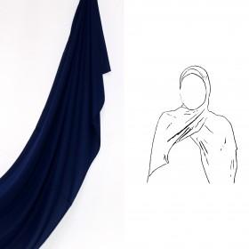 Maxi Chiffon Sjal - Mørkeblå