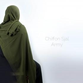 Chiffon Sjal - Army