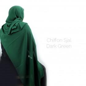 Chiffon Sjal - Dark Green