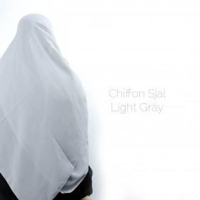 Chiffon Sjal - Light Gray
