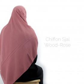 Chiffon Sjal - Wood Rose