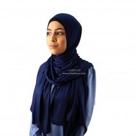 Maxi Jersey Sjal - Dark Blue