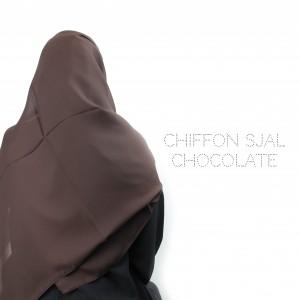 Chiffon Sjal - Chocolate