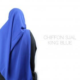 Chiffon Sjal - King Blue