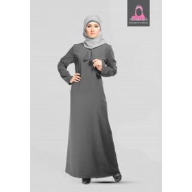 Grå Simple Abaya