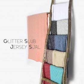 Glitter Slub Jersey Sjal